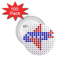Plane 1.75  Buttons (100 pack)