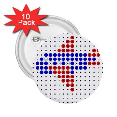 Plane 2.25  Buttons (10 pack)