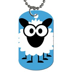 Sheep Animals Bleu Dog Tag (Two Sides)