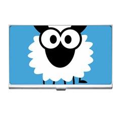 Sheep Animals Bleu Business Card Holders