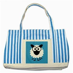 Sheep Animals Bleu Striped Blue Tote Bag