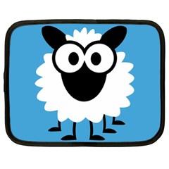 Sheep Animals Bleu Netbook Case (XL)