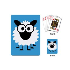 Sheep Animals Bleu Playing Cards (Mini)