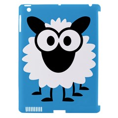 Sheep Animals Bleu Apple iPad 3/4 Hardshell Case (Compatible with Smart Cover)