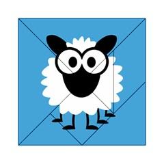 Sheep Animals Bleu Acrylic Tangram Puzzle (6  x 6 )