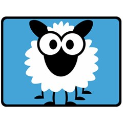 Sheep Animals Bleu Double Sided Fleece Blanket (Large)