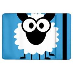 Sheep Animals Bleu iPad Air Flip