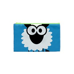 Sheep Animals Bleu Cosmetic Bag (XS)