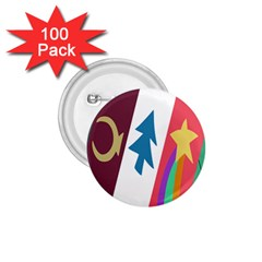 Star Color 1.75  Buttons (100 pack)