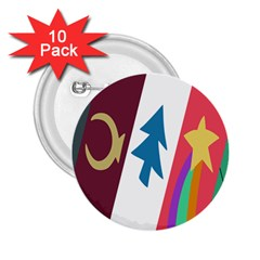 Star Color 2.25  Buttons (10 pack)