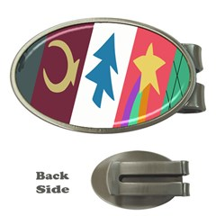 Star Color Money Clips (Oval)