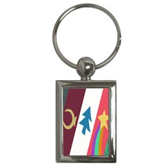 Star Color Key Chains (Rectangle)