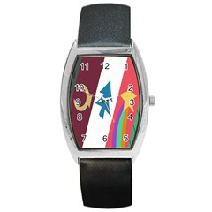Star Color Barrel Style Metal Watch
