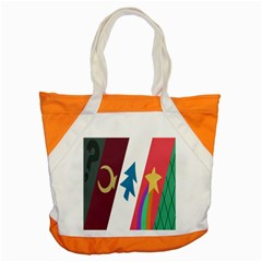 Star Color Accent Tote Bag