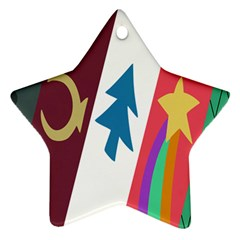 Star Color Star Ornament (Two Sides)