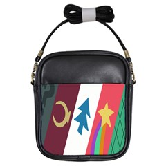 Star Color Girls Sling Bags