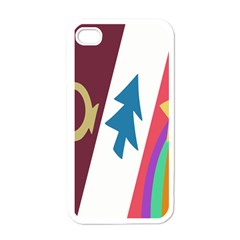 Star Color Apple iPhone 4 Case (White)