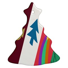 Star Color Christmas Tree Ornament (2 Sides)