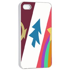 Star Color Apple iPhone 4/4s Seamless Case (White)
