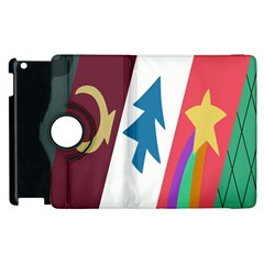 Star Color Apple iPad 2 Flip 360 Case
