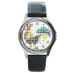 Rooster Round Metal Watch