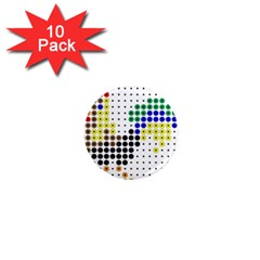 Rooster 1  Mini Magnet (10 pack)