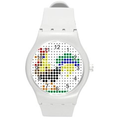 Rooster Round Plastic Sport Watch (M)