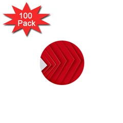 Rank Red White 1  Mini Buttons (100 pack)