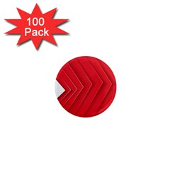 Rank Red White 1  Mini Magnets (100 pack)