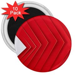 Rank Red White 3  Magnets (10 pack)