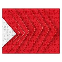 Rank Red White Rectangular Jigsaw Puzzl