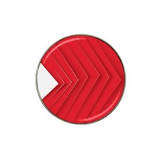 Rank Red White Hat Clip Ball Marker (4 pack)