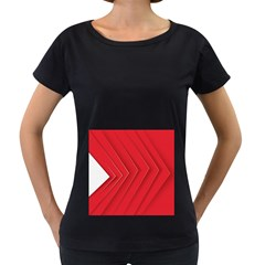 Rank Red White Women s Loose-Fit T-Shirt (Black)