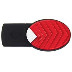 Rank Red White USB Flash Drive Oval (4 GB)