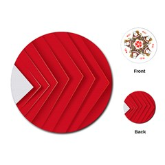 Rank Red White Playing Cards (Round)