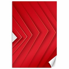 Rank Red White Canvas 24  x 36