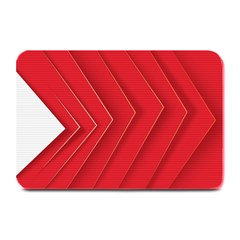 Rank Red White Plate Mats