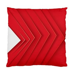 Rank Red White Standard Cushion Case (One Side)