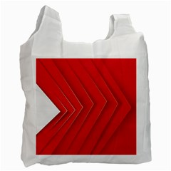 Rank Red White Recycle Bag (One Side)