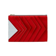 Rank Red White Cosmetic Bag (Medium)