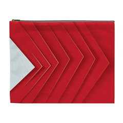Rank Red White Cosmetic Bag (XL)