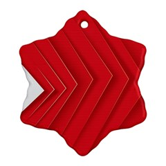 Rank Red White Snowflake Ornament (2-Side)