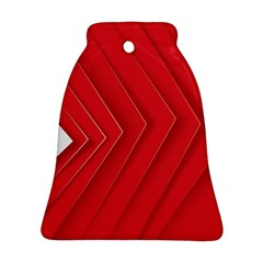 Rank Red White Bell Ornament (2 Sides)