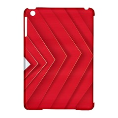 Rank Red White Apple iPad Mini Hardshell Case (Compatible with Smart Cover)