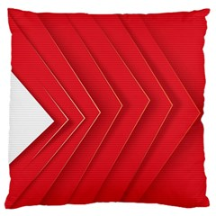 Rank Red White Large Flano Cushion Case (Two Sides)