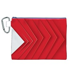 Rank Red White Canvas Cosmetic Bag (XL)