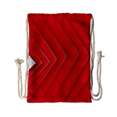 Rank Red White Drawstring Bag (Small)