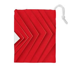 Rank Red White Drawstring Pouches (Extra Large)