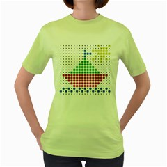 Ship Women s Green T-Shirt