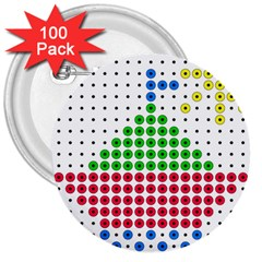Ship 3  Buttons (100 pack)